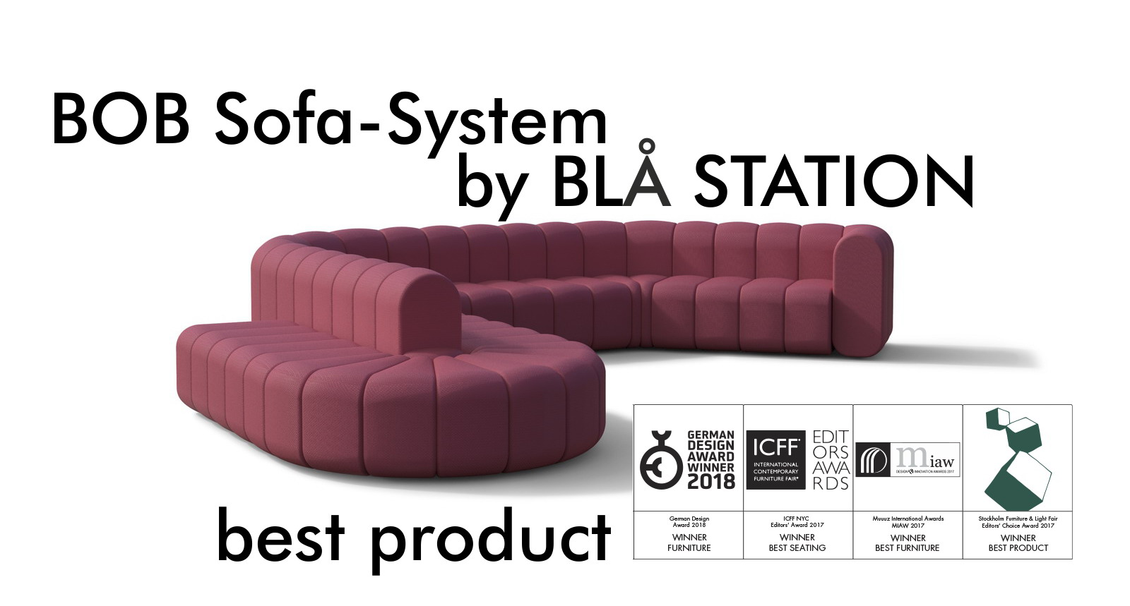 BOB sofa system BLA STATION